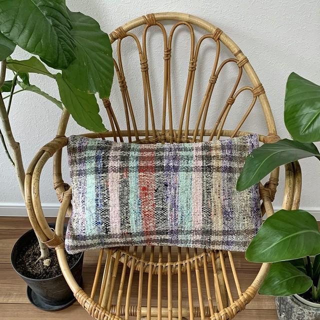 手織り キリム クッション 長方形 C047