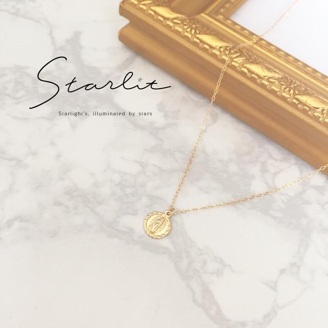 14kgf 》Round medai necklace