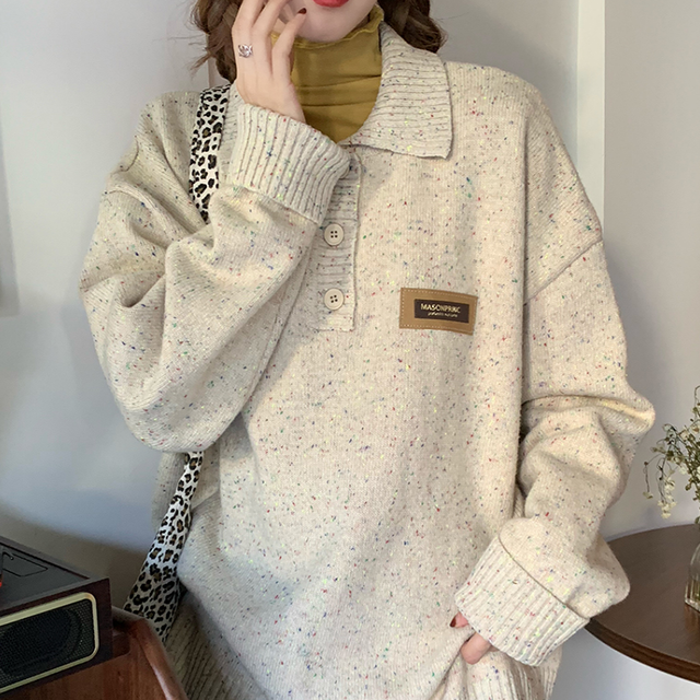 Front button vintage knit LD0575