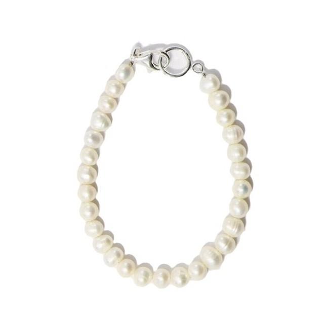SPARKING Potato Pearl Bracelet WHITE