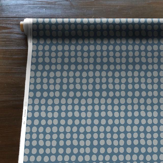 Connecting the dots(水色)[50cm×150cm]cotton100%