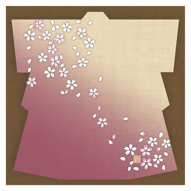 ガラス皿「そめゆら」Y-07 着物 桜02