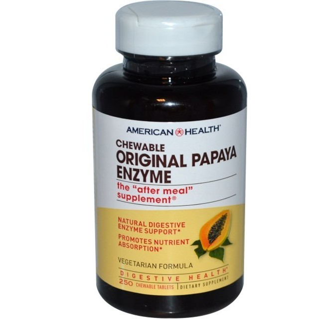 パパイヤ酵素 250錠 AMERICAN HEALTH チュアブル オリジナル パパイヤエンザイム