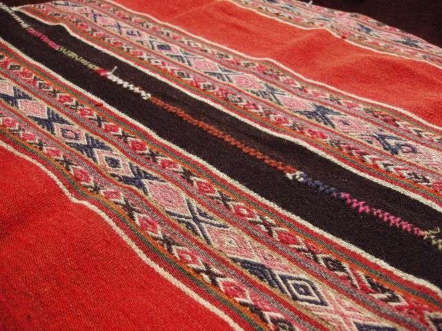 アンデスの織物(オレンジ×茶)