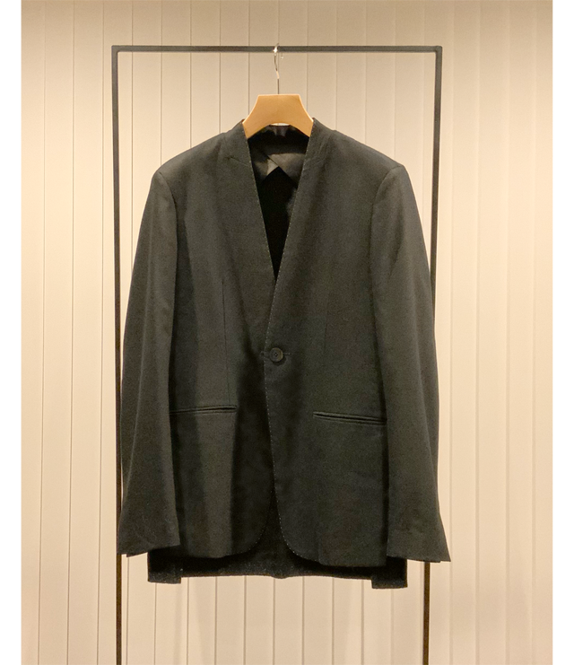 Collarless Jacket / Black