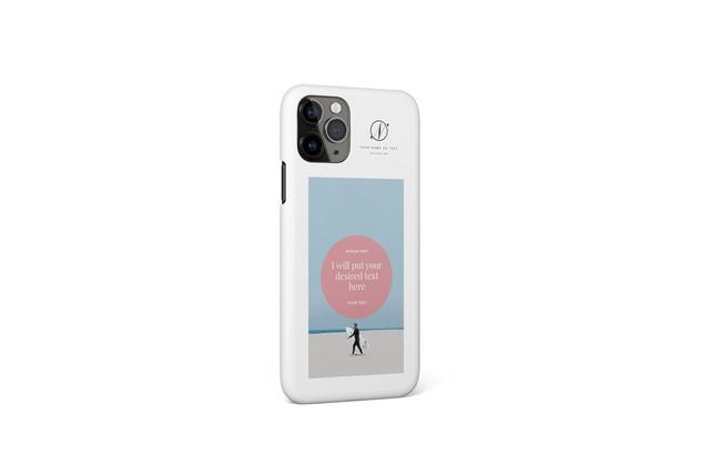 あなたの写真で作るオリジナルiPhoneケースD / 多機種対応可 / 文字色・ケース色変更可