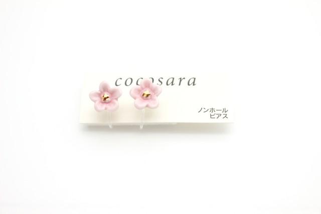有田焼ノンホールピアス flower  9