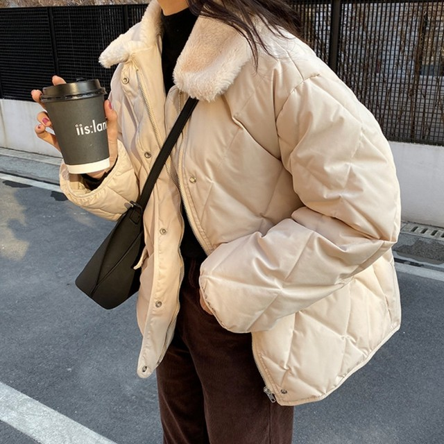 【予約】中綿キルティング ファー襟ブルゾン NW-55-61
