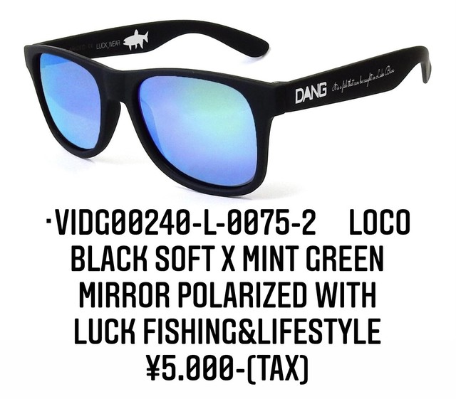 DANG SHADES vidg00240-l-0075-2 LOCO Black Soft X Mint Green Mirror Polarized}
