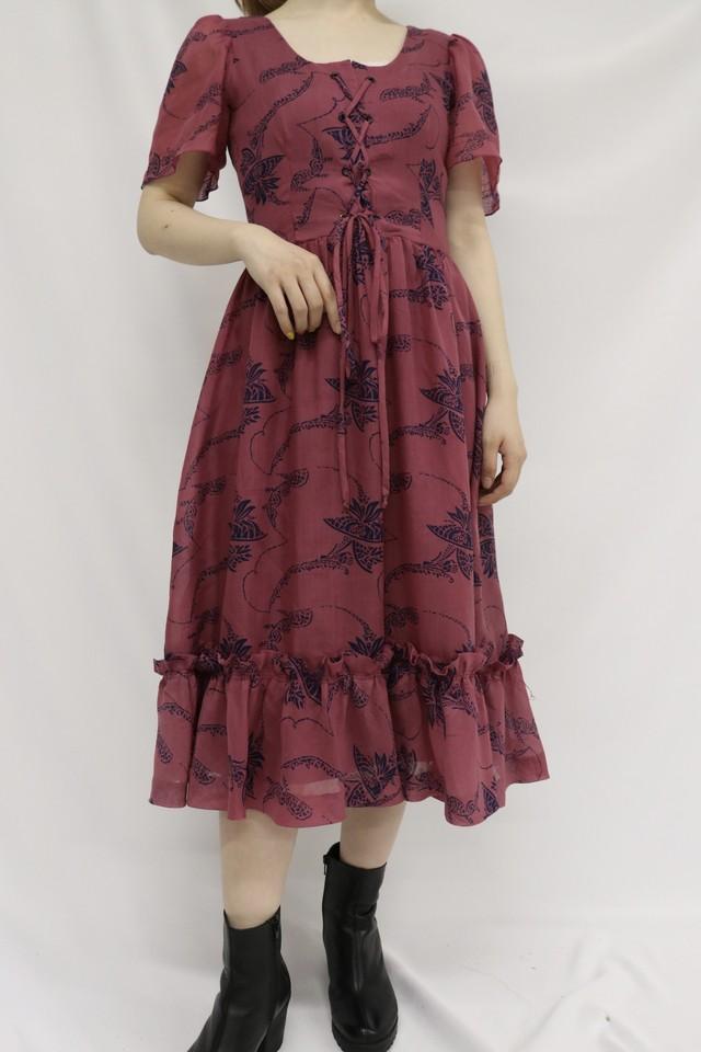 vintage frill dress / 5SSOP05-26