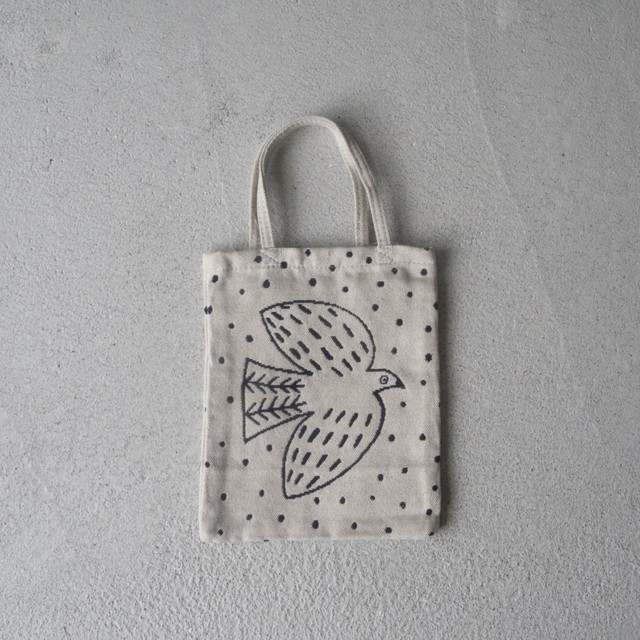 松尾ミユキ Mini bag Bird white