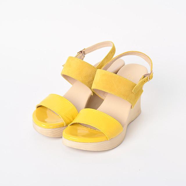 ウェッジサンダルSunny Citrine Yellow