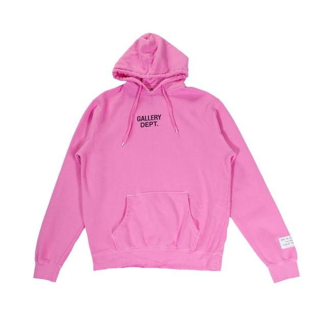 GALLERY DEPT Logo Hoodie Pink