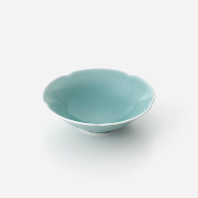 青磁花型 中鉢