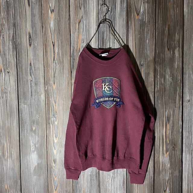 [used]KC emblem wine red sweat
