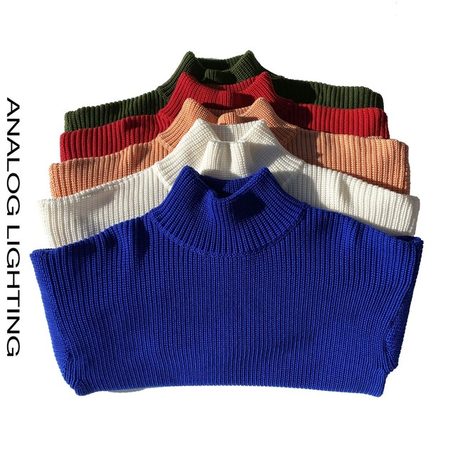 STAND NECK KNIT