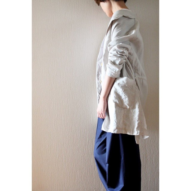 Linen long tailored jacket by Dries Van Noten