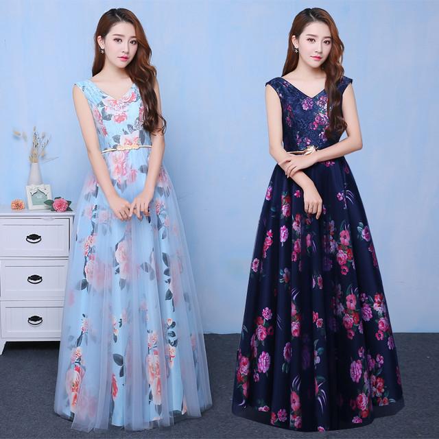 ロングドレス 花柄 演奏会 結婚式 ウェディングドレス パーティドレス 発表会 フォーマル ドレス 二次会 編み上げ 上品
