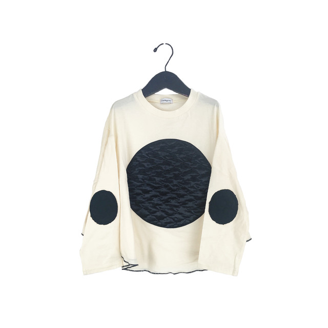 BEAR QUILTING DOTS PONCHO L/S TEE / WOMEN