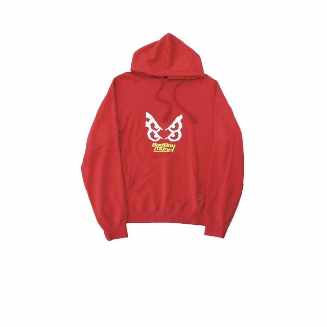 【10%OFF】MYne × BADBOY hoodie / RED - メイン画像
