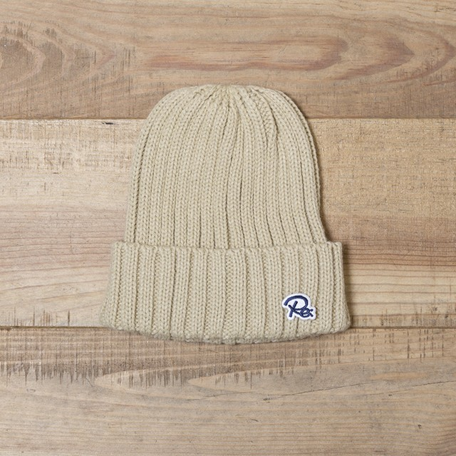 Re PATCH KNIT CAP[REH046]
