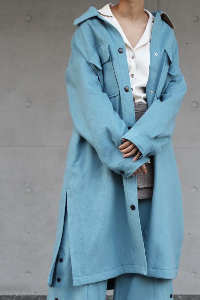 【eicayoshinari】light melton shirts jacket