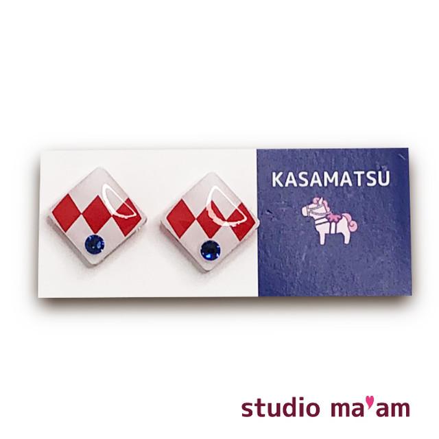 ■KASAMATSU-08 ピアス。しかく。〜イヤリング変更可〜