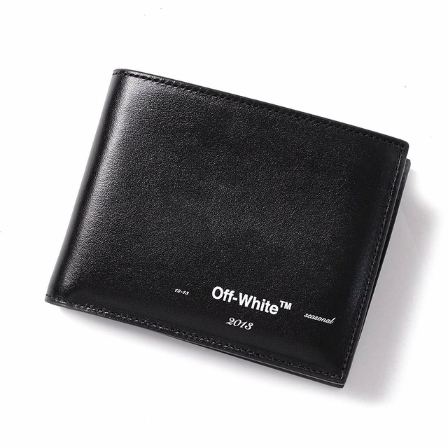 OFF-WHITE オフホワイト 二つ折り財布 ブラック[全国送料無料] r014721