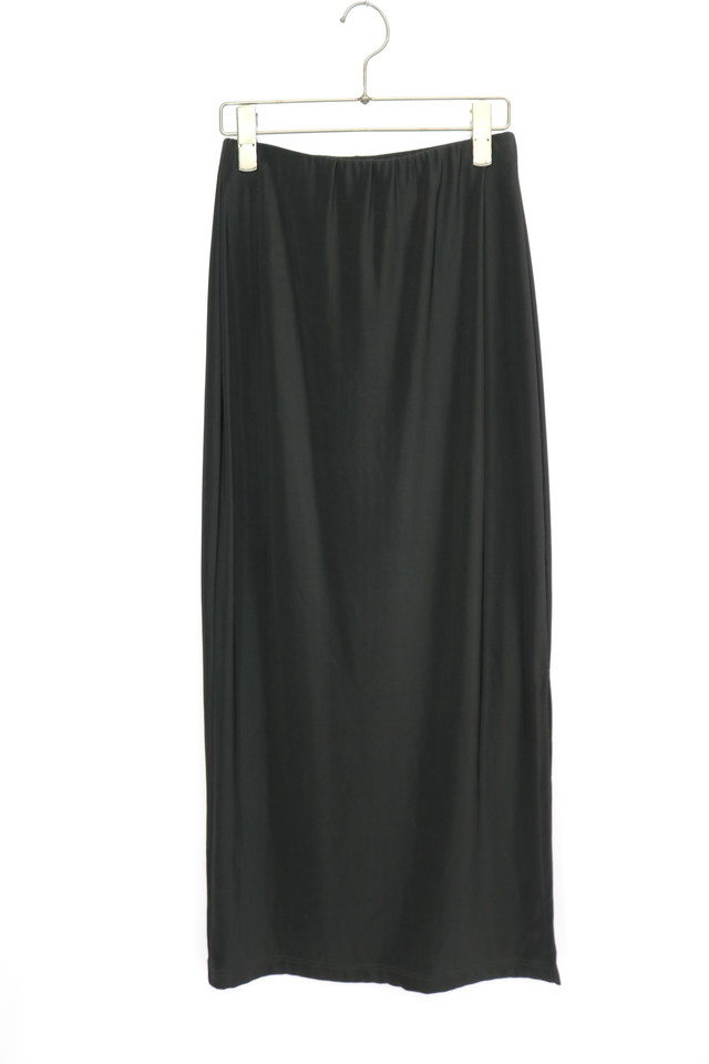 plain design skirt / BLK