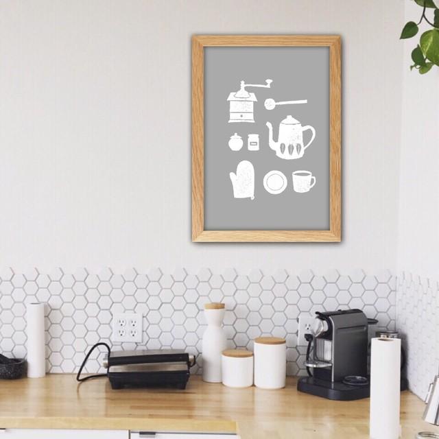 コーヒータイム / I047 / 北欧ポスター