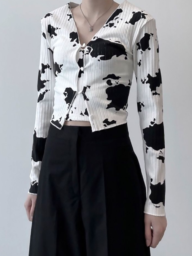 【WOMENS - 2 size】COW SET TOPS / White