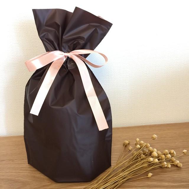 【ラッピング】リボン付巾着型プレゼント袋