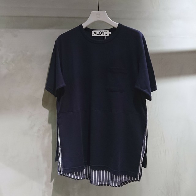 ALOYE / Shirt Fabrics Short Sleeve Layerd T-shirt