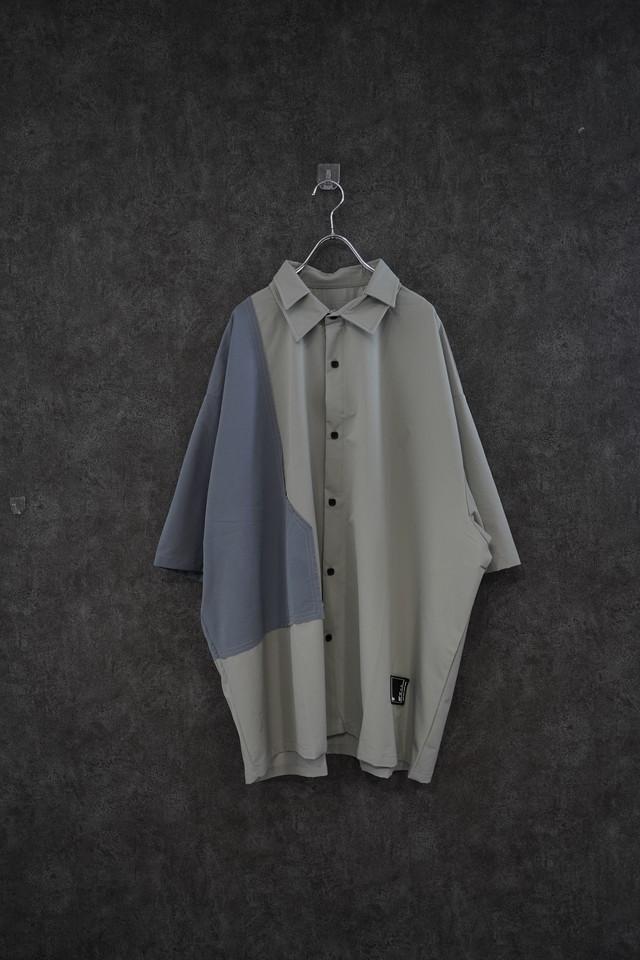 【再入荷】℃℃℃  Switch color  shirt  gry×Sax