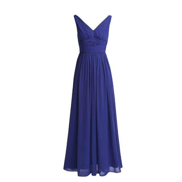 CFL012 ロイヤルブルー シフォンロングドレス