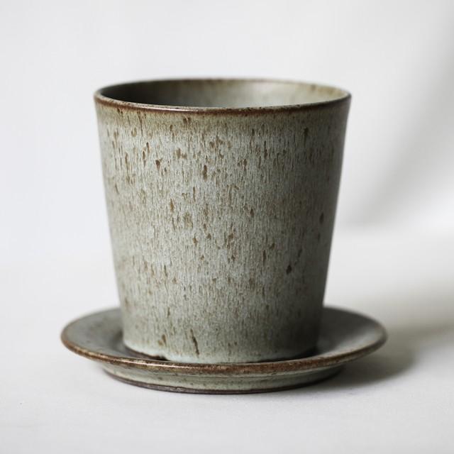 Wide Cylinder Pot(Opal Green)