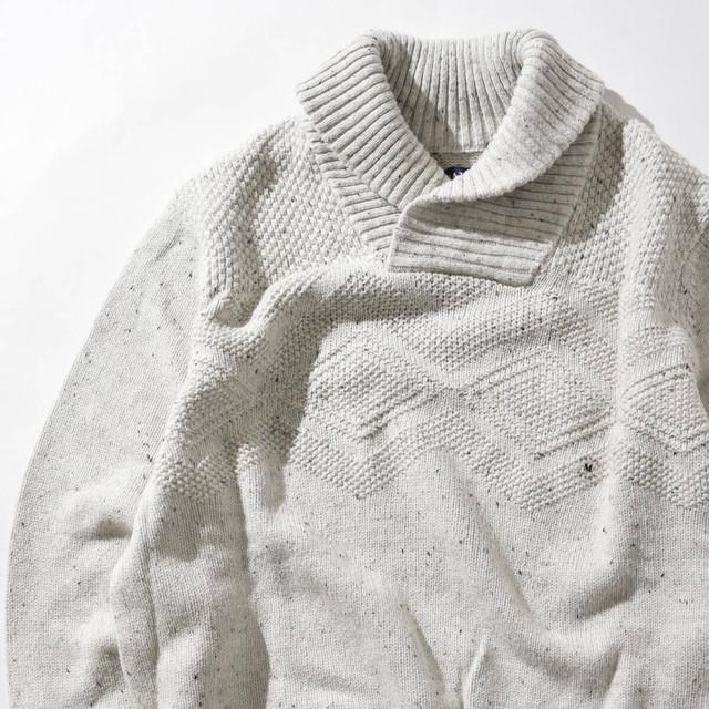 【Mサイズ】CHAPS チャップス Shawl Collar Sweater ショールカラーセーター IVY アイボリー M 400604191130