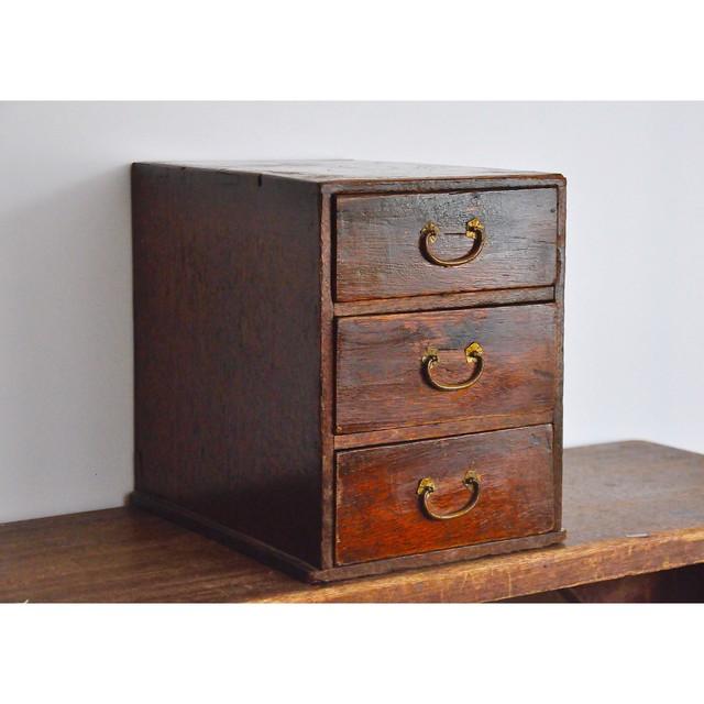 【 取手付き木箱 】明治 / iron / antique / japan