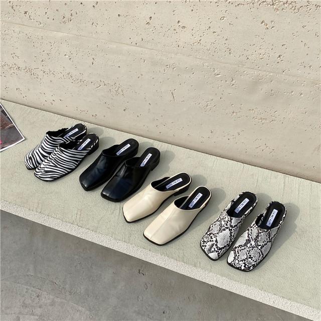 Square toe sabo sandal KRE824