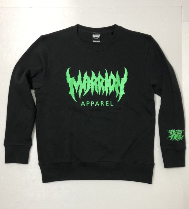 MARRION APPAREL LOGO SWEAT (Black×Green)
