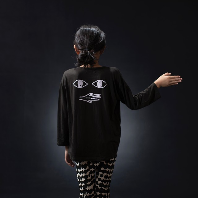 arkakama  L/S Loose Tee E.EYES (D.CHARCOAL) M/L AKL00506 ※一枚までメール便可