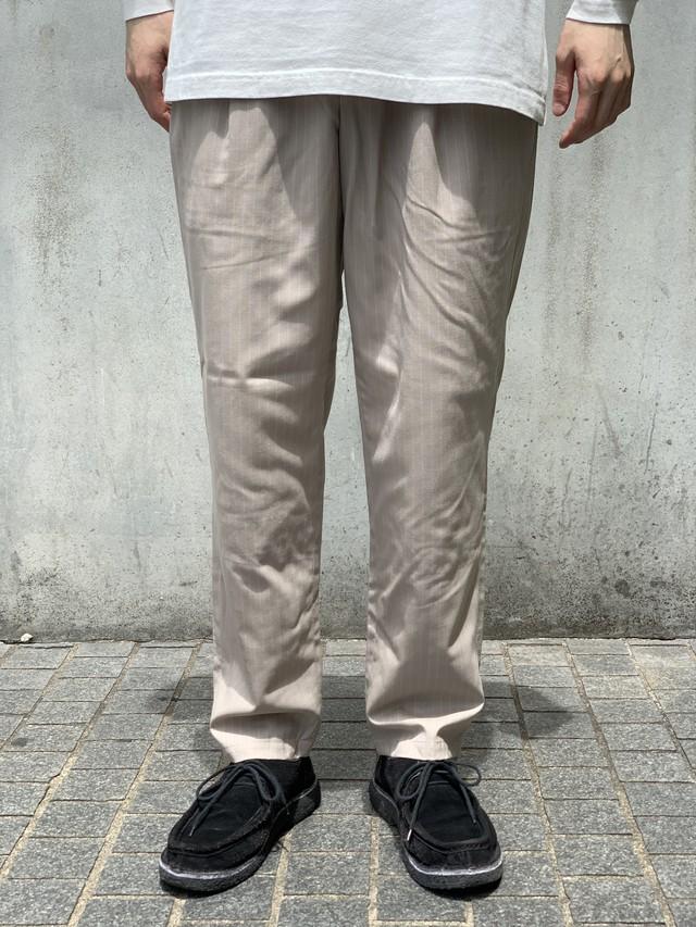 【O-】レイチョウルイラボ NARROW TROUSERS / Sand Stripe (ナロートラウザーズ-サンド-)