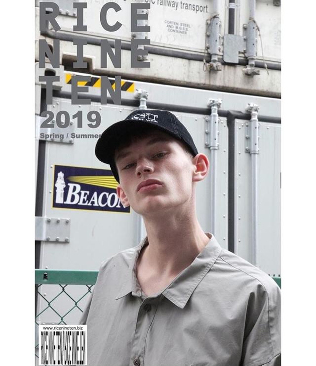 【RICE NINE TEN】scanty skeeve wide work shirt(gray)