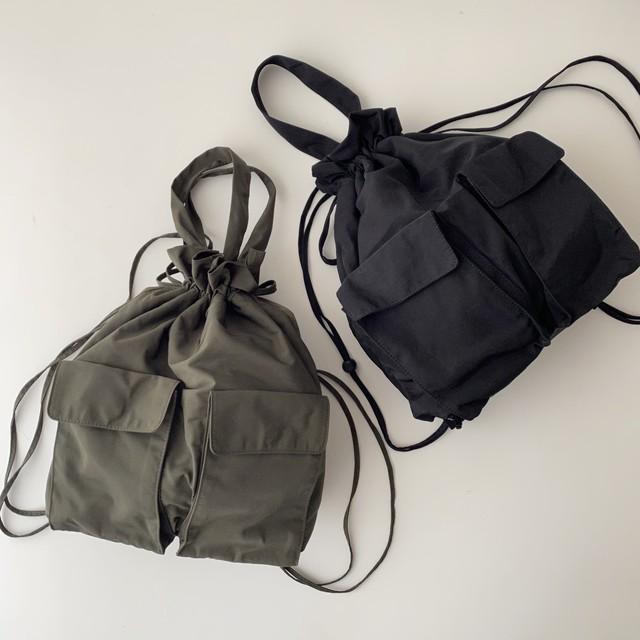 2wayナイロンバッグパック・ハンドバッグ/2カラー