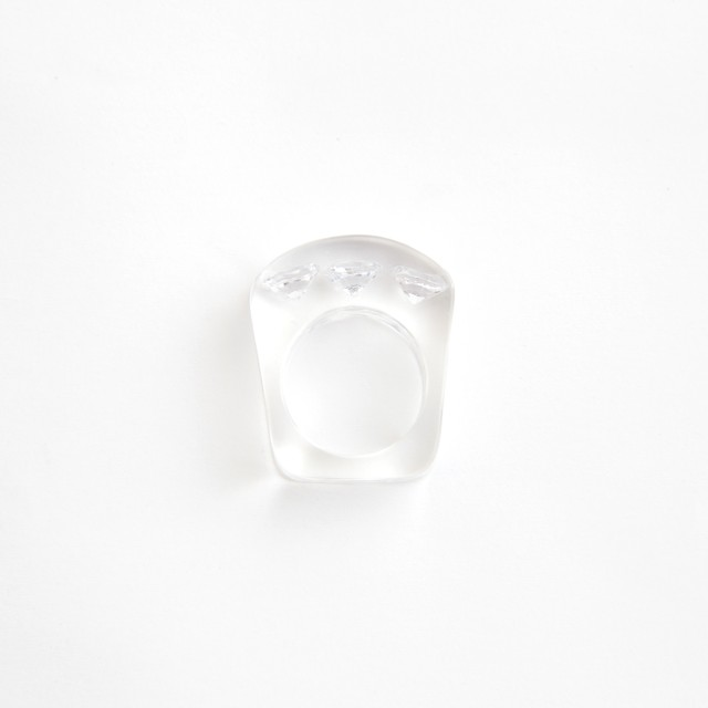 JUTIQU/Timeless Ring 4_7mm zirconia×3