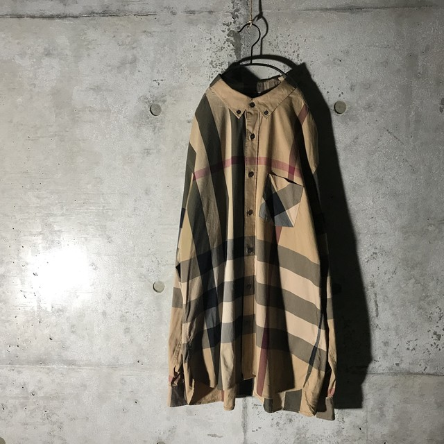 景品用[Burberry]big nova check shirt