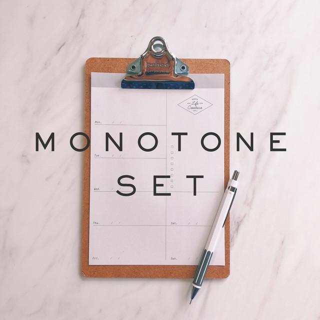 【定番モノトーン】スケジュール管理5点セット | ギフトにも
