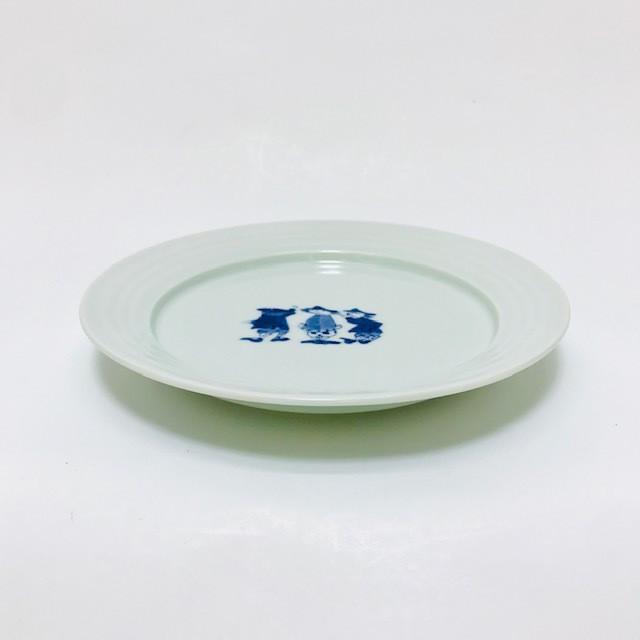 【青花】RAKTAK(使いやすい器シリーズ)3人異人7寸プレート