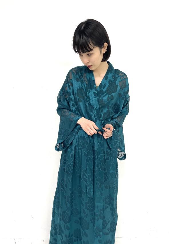 flower pattern see-through long gown / 3SSOU24-05