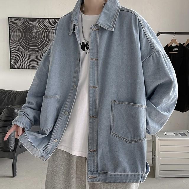 drop shoulder denim shirt PD2505